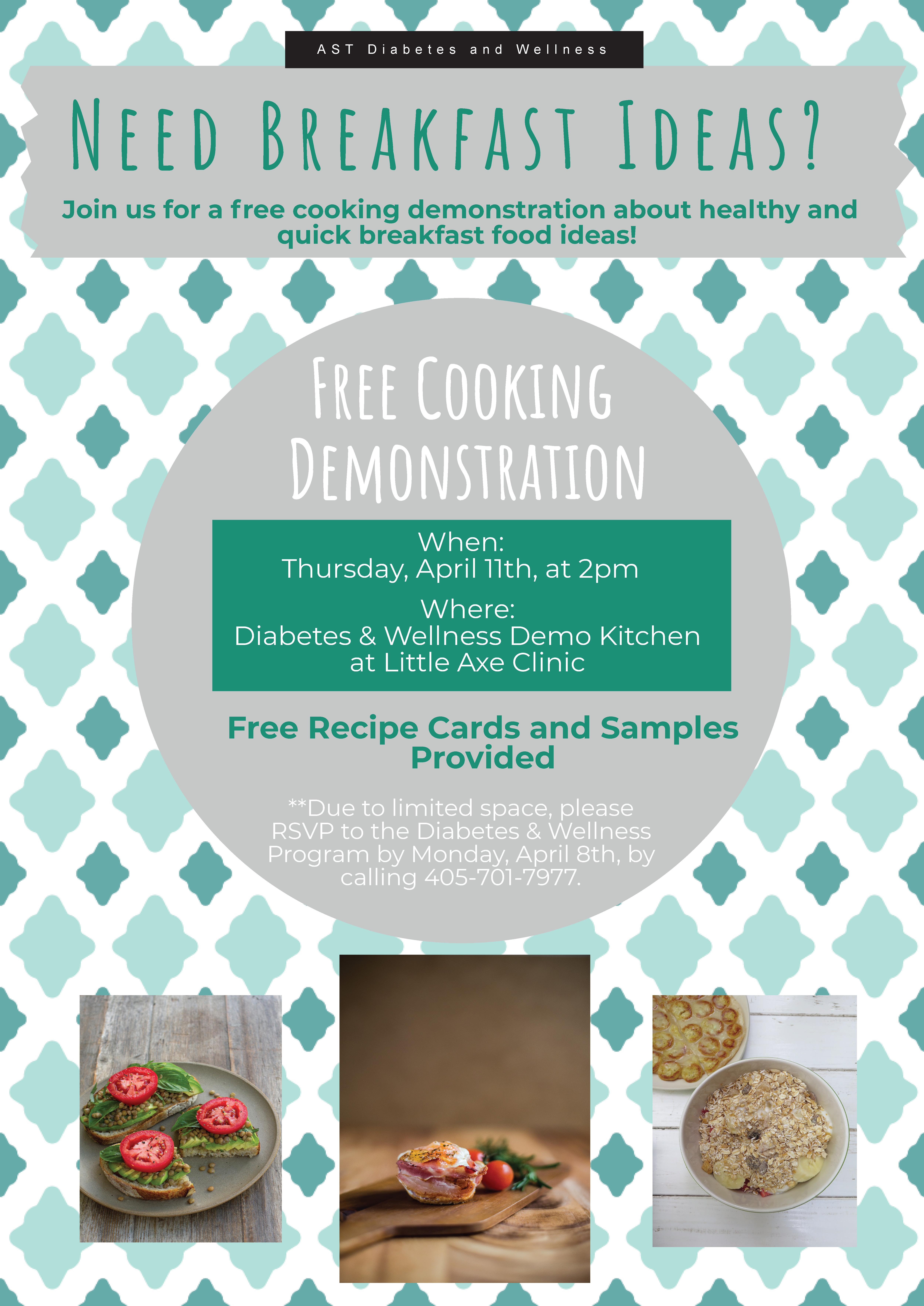 Diabetes Cooking Demonstation 4/11 | Absentee Shawnee Tribal Health